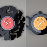 2 zegary z płyt winylowych