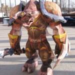 Papierowa figurka potwora z World of Warcraft