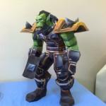 Papierowa figurka orka z World of Warcraft