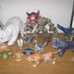 Papierowa figurka zwierząt z World of Warcraft