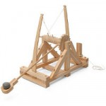 Drewniana katapulta Leonadro Da Vinci'ego