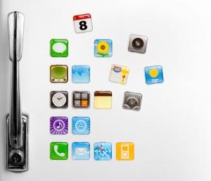 Magnesy w kształcie ikonek z iPhone